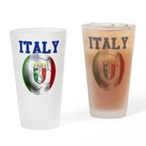 Italy Soccer Ball Drinking Glass