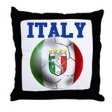 Italy Soccer Ball Throw Pillow