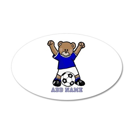 Cute Personalized soccer bear 20x12 Oval Wall Deca