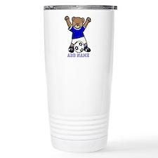 Cute Personalized soccer bear Travel Mug