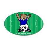 Personalized Soccer Bear Wall Decal