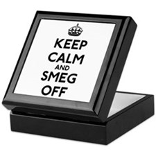 Keep Calm And Smeg Off Keepsake Box