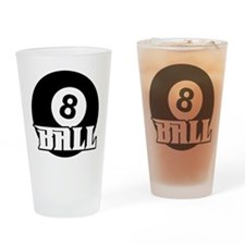 8 Ball Drinking Glass