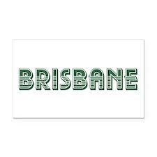 Brisbane Rectangle Car Magnet
