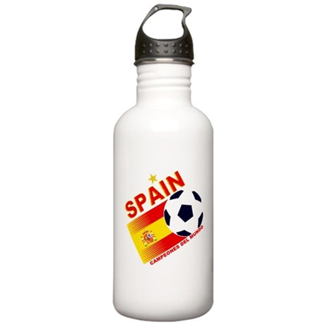 Spain World Cup Soccer Stainless Water Bottle 1.0L