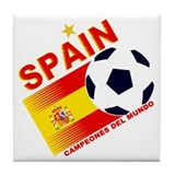 Spain World Cup Soccer Tile Coaster