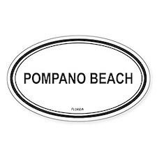 Pompano Beach (Florida) Oval Decal