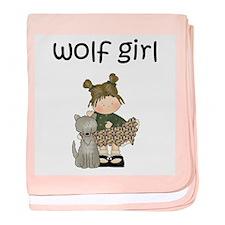 Wolf Girl Baby Blanket