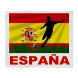 Spain World Cup Soccer Throw Blanket