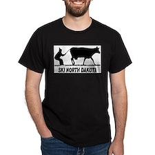 Ski North Dakota Black T-Shirt
