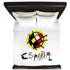 Spain World Cup Soccer King Duvet