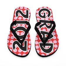 Polka Dot Graduate 2012 Flip Flops