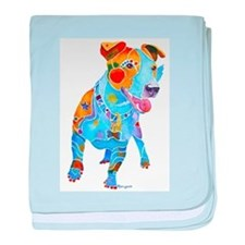 Jack Russell Terrier Many Colors baby blanket