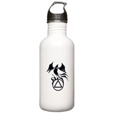 A.A. Logo Phoenix B&W - Water Bottle