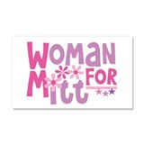 Woman FOR Romney Car Magnet 20 x 12