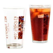 Got Pot? KitchOut.com logo Sideways Drinking Glass