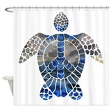 Sea Turtle Peace Shower Curtain