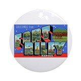 Fort riley Round Ornaments