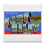 Fort Riley Kansas Tile Coaster