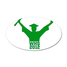 2012 Graduation 38.5 x 24.5 Oval Wall Peel