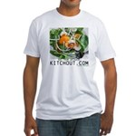 Eat Your Spinach KitchOut.com Logo Fitted T-Shirt