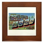 Camp Hood Texas Framed Tile