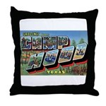 Camp Hood Texas Throw Pillow