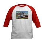Camp Hood Texas (Front) Kids Baseball Jersey