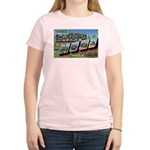 Camp Hood Texas (Front) Women's Pink T-Shirt
