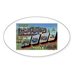Camp Hood Texas Oval Sticker