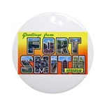 Fort Smith Arkansas Ornament (Round)