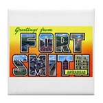 Fort Smith Arkansas Tile Coaster