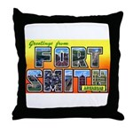 Fort Smith Arkansas Throw Pillow