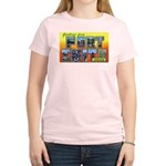 Fort Smith Arkansas (Front) Women's Pink T-Shirt