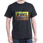 Fort Smith Arkansas (Front) Black T-Shirt
