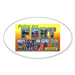 Fort Smith Arkansas Oval Sticker