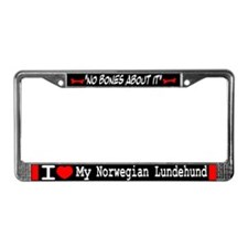 Norwegian Lundehund Gifts License Plate Frame