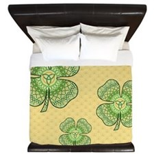 Celtic Shamrock King Duvet