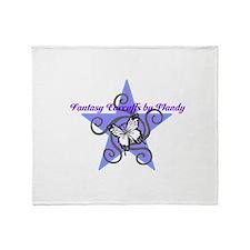 Fantasy Earcuffs Logo Throw Blanket