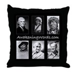 Awakening Words Throw Pillow