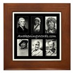 Awakening Words Framed Tile