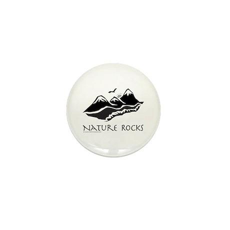 Nature Rocks Mountains Mini Button