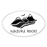 Nature Rocks Mountains Oval Decal