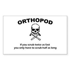 Orthopod Shirt Rectangle Decal