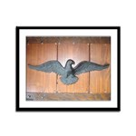 THE BLACK EAGLE Framed Panel Print