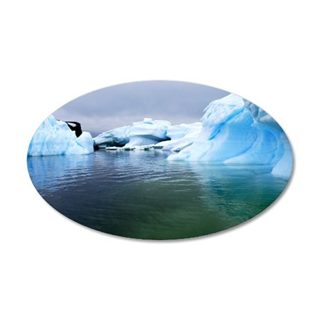 Antarctica Water! Iceberg 35x21 Oval Wall Decal