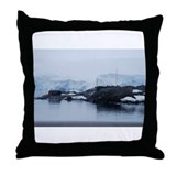 Port Lockroy Antarctica Throw Pillow