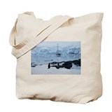 Gentoo Penguin at Port Lockroy Tote Bag