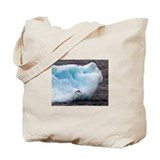 Adelie Penguin on Iceberg Tote Bag