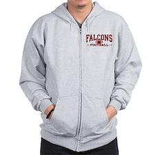 Falcons Football Zip Hoodie